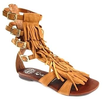 Jeffrey Campbell - Tan Top Fringe Sandals