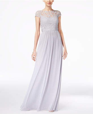 Adrianna Papell Lace Illusion Gown