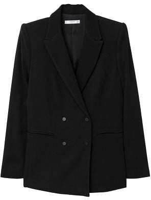 MANGO Padded shoulder blazer