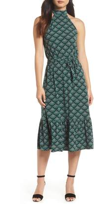 MICHAEL Michael Kors Print Halter Midi Dress