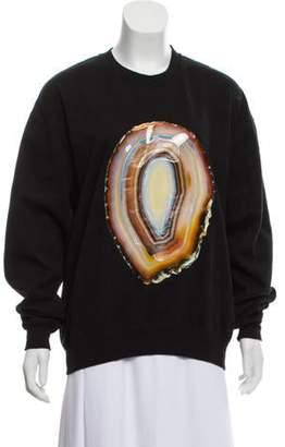 Acne Studios Printed Pullover Sweatshirt Black Printed Pullover Sweatshirt