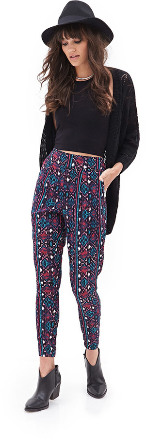Forever 21 Tribal Printed Gauze Trousers