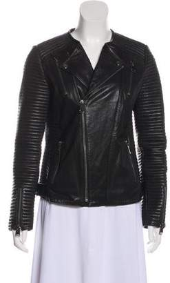 Anine Bing Structured Leather Jacket