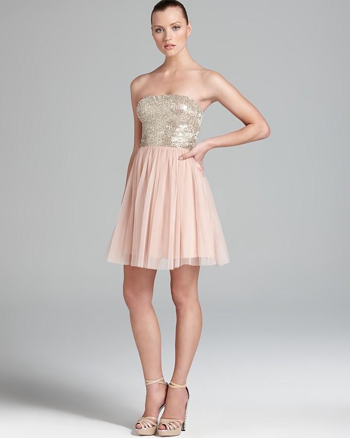 Aidan Mattox Party Dress - Strapless Sequin Top