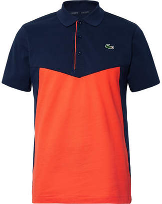 Lacoste Tennis Colour-Block Cotton-Jersey Tennis Polo Shirt