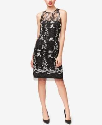 Betsey Johnson Women's Sleevless Embroidered Sheath Dress