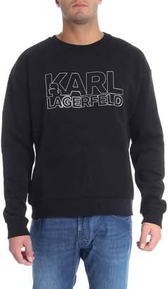 Karl Lagerfeld Silver Print Sweatshirt