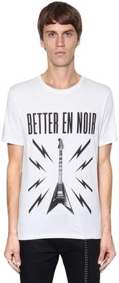 The Kooples Better En Noir Cotton Jersey T-Shirt