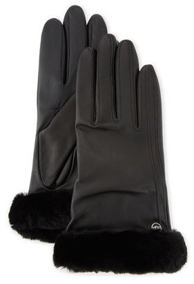 UGG Classic Leather Smart Gloves, Black $110 thestylecure.com