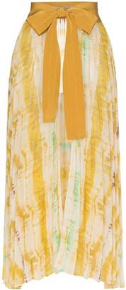 Silvia Tcherassi Blanche belted tie dye skirt