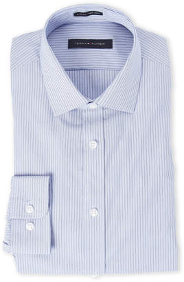 Tommy Hilfiger Blue & Cobalt Stripe Slim Fit Shirt
