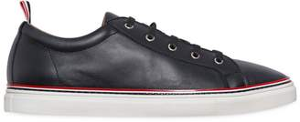 Thom Browne Leather Low Lace-Up Sneakers