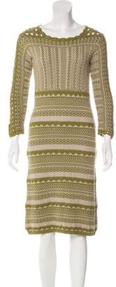 Etro Long Sleeve Knit Dress