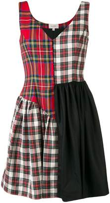 Isa Arfen check mix mini skirt
