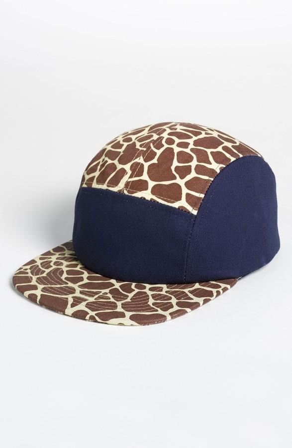 Topman Giraffe Print Snapback Cap