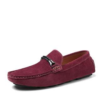 b716d97debbe6 DOLDT1 Men s Casual Driving Loafers Suede Leather Slip on Moccasin Classic  Fashion Flat Court Shoes Men