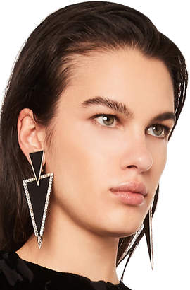 Saint Laurent Triangle Drop Earrings
