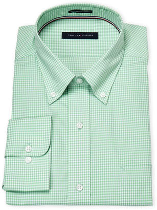 Tommy Hilfiger Seagrass Gingham Regular Fit Dress Shirt