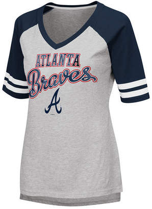 G-iii Sports Women's Atlanta Braves Goal Line Raglan T-Shirt