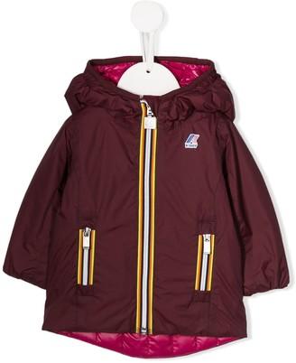 K Way Kids hooded down parka coat
