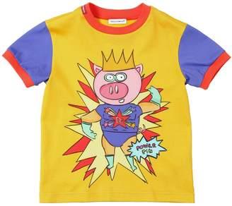 Dolce & Gabbana King Pig Print Cotton Jersey T-Shirt