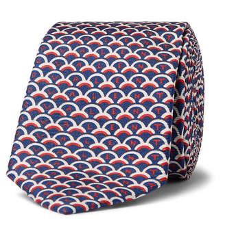 Valentino Garavani 6cm Printed Silk-Twill Tie - Men - Navy