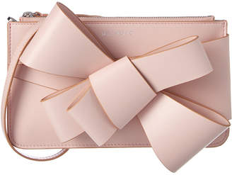 DELPOZO Mini Bow Leather Clutch