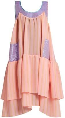 Natasha Zinko Scoop-neck sleeveless textured-jacquard dress