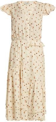 Sea Margaux floral-print ruffle-trimmed cotton dress