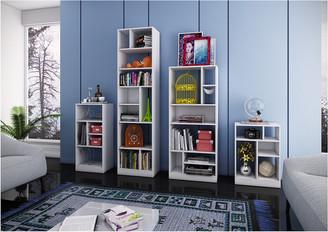 Manhattan Comfort 4 Piece Valenca Bookcase Set