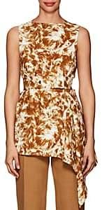 Victoria Beckham Women's Fur-Print Crepe Belted Blouse-Ginger-white