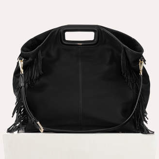 Free Standard Shipping At Maje Tote With Leather Fringe