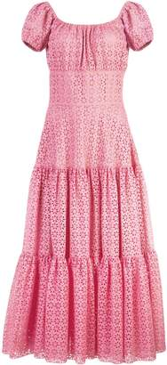 Michael Kors floral lace ruffled dress