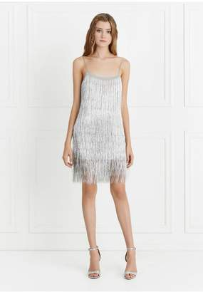 Rachel Zoe Della Fringe Metallic Dress