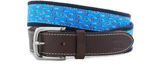 Vineyard Vines Shark Week Circling Sharks Canvas Club Belt