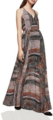BCBGeneration Abstract Dot Print Maxi Dress $118 thestylecure.com