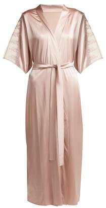 Fleur of England Antoinette Silk Blend Robe - Womens - Light Pink