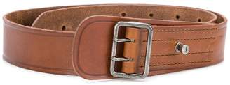 Saint Laurent porthole buckle military belt