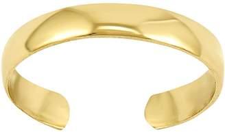 Polished Toe Ring, 14K Gold