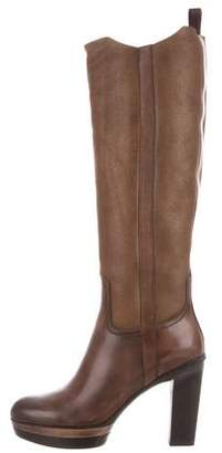 Santoni Suede First Lady Boots w/ Tags