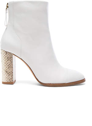 Alexandre Birman Leather Bibiana Watersnake Booties