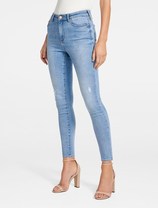 Forever New Zoe Mid-Rise Ankle Grazer Jeans - BARI BLUE DISTRESSED - 4