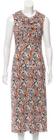 pradaPrada Printed Midi Dress