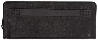 Boris Bidjan Saberi Black Leather Zip-Around Wallet
