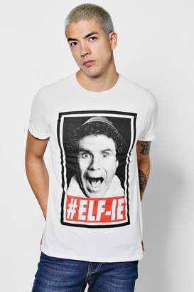 boohoo Elf License Print T Shirt