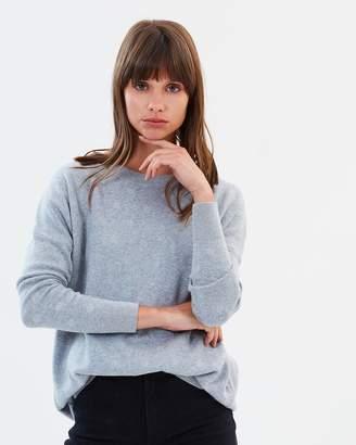 Sass Charlise Lurex Spot Zip Knit