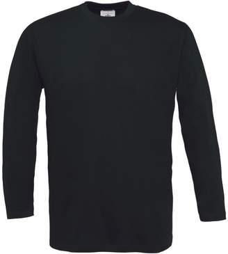 BC B&C Mens Exact 150 LSL Crew Neck Long Sleeve T-Shirt (XXXL)