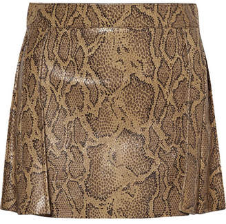 Chloé Snake-effect Leather Mini Skirt - Snake print