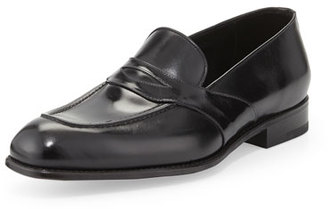 TOM FORD Charles Leather Penny Loafer, Black $1,590 thestylecure.com