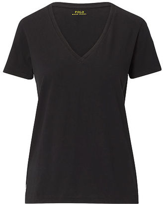 Polo Ralph Lauren V-Neck Tee $55 thestylecure.com